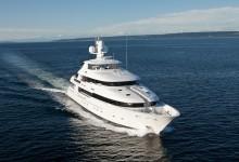 M/Y Rochade Underway, departing from Seattle's Elliott Bay Marina